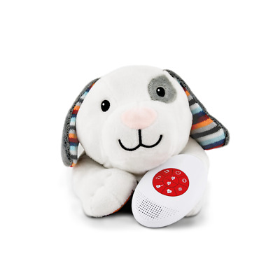 ZAZU DEX Soft Heartbeat Plush Toy Voice & Touch Activated Sleep Soother Dog
