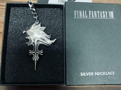 Final Fantasy VIII 8 Sterling Silver Sleeping Lion Heart Necklace SQUARE USED