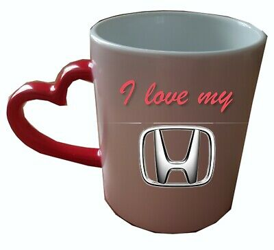 Personalised Valentines day Heat Colour Changing Mug. Add your car logo