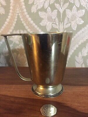 Solid Silver Tankard Unusual Handle Over 300g