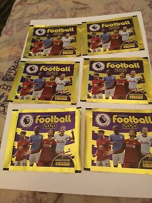 50 Packets of Panini's Football 2020 Premier League Sticker  Packs(Unopened).