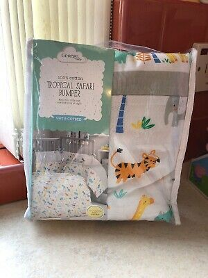 Asda George Tropical Safari Cot And Cotbed Bumper BNIB