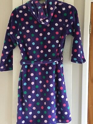 M&S Purple spotted dressing gown - Age 9-10 years