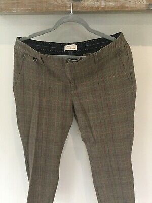 Anthropologie Checked Trousers size 16