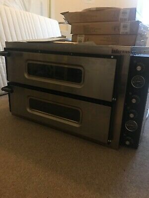 Pizza Oven Italian Twin Deck Electric New Fits up to 12 Pizzas at any one time!