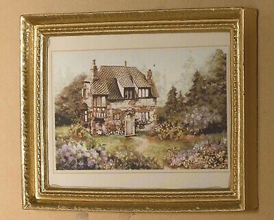 1:12 Scale Framed Picture Print Of Queen Victoria Tumdee Dolls House Art 2 JD