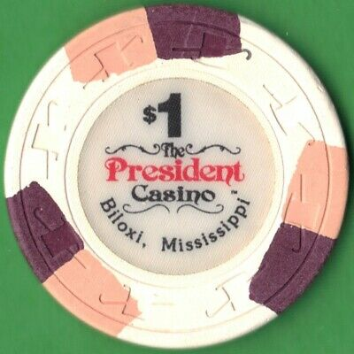 $1 Casino Chip from The President Casino in Biloxi, Mississippi. Free Shipping!