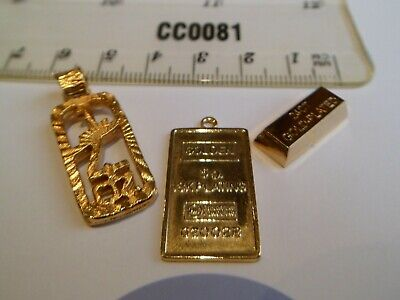 Auction for all 3 Gold Bullion Bar / Ingot / Pendants Pictured - 5g 1/4 oz Plate