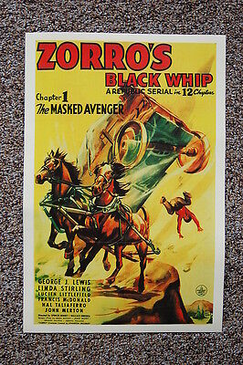 ZORRO the man with the WHIP vintage FRENCH MOVIE POSTER adventure 24X36 HOT