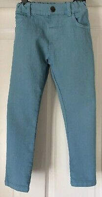 Marks & Spencer Pale Blue Jeans, Popper Fastening, Adjustable Waist, Age 4-5 Yrs