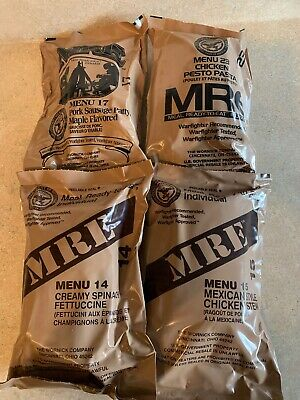 MRE U.S. MILITARY- MEALS READY TO EAT 4 Pack