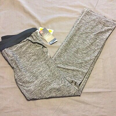 Under Armour Girls Heat Gear Fitted Leggings Gray Workout Size YXL NWT $39.99