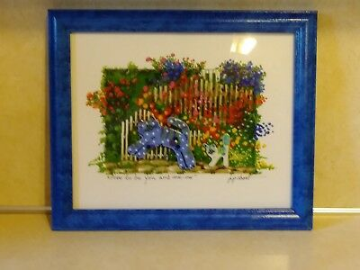 "Porcelain Cats Cloth ""Free To Be You And Me-Ow"" Framed/Matted Printjp Short"