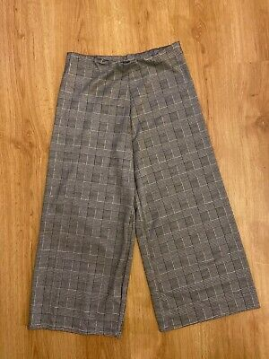 Womens primark grey checked trousers size 14 Elasticated waist