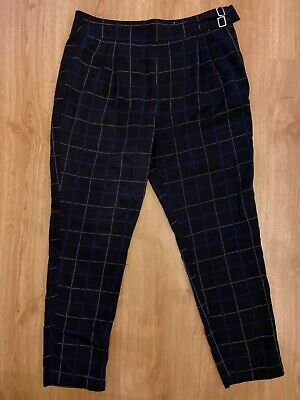 Tu checked black trousers size 14