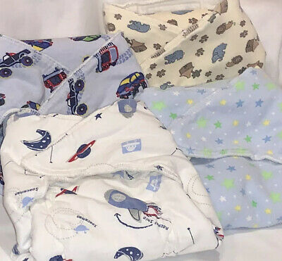 Meg A Roo's Designs Extended Tab Bamboo Prefold Diapers Sz Large Lot of 4