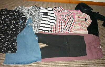 Bundle Girls Clothes age 7-8yrs Next Zara Jeans Tops Dress Leggings Hoodie