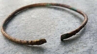 Ancient Roman Open Bronze BRACELET (D), Intact, 1st - 4th Century AD, 63 mm