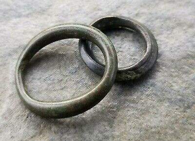 Ancient CELTS Bronze Proto-Money, Ring Type, 6th - 4th Century BC, Lot Of 2  (A)