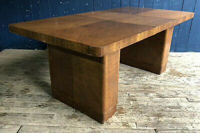 Antique Art Deco style extendable dining table unusual good condition