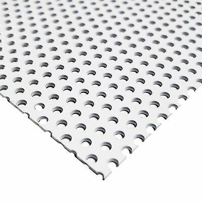 """White Painted Aluminum Perforated Sheet, 0.040"""" x 12"""" x 24"""" (1/8"""" Holes)"""