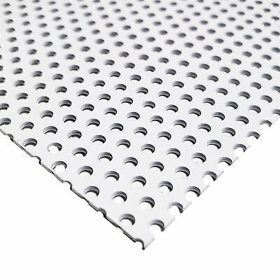 """White Painted Aluminum Perforated Sheet, 0.040"""" x 12"""" x 12"""" (1/8"""" Holes)"""