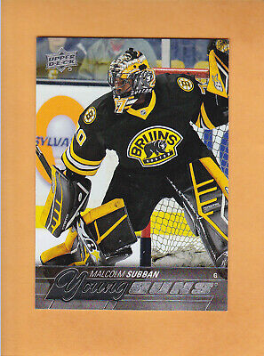 2015 16 Upper Deck Young Guns Rookie # 211 Malcolm Subban Boston Bruins Rc