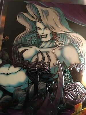 1 Lady Death Chromium Card From 1995 Set III Cover Gallery Subset I