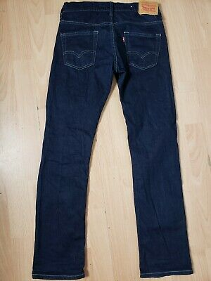Levis 511 Levi Strauss Slim Fit Jeans Boys Age 14 Years Adjustable Waist 29 L 30