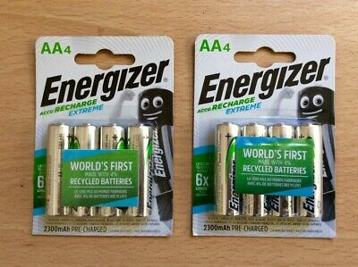 Energizer Accu Recharge Extreme AA Batteries 2300 mAh Pre-charged x 8