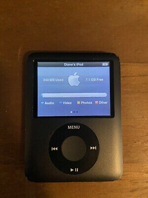 Apple iPod Nano 8GB 3rd Generation - Black Used