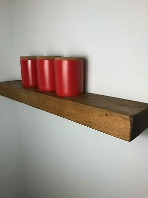 EXTRA CHUNKY SOLID WOOD FLOATING SHELF + FIXINGS- 70mm THICK-Rustic Farmhouse