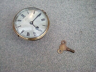 Antique clock movement with platform escapement
