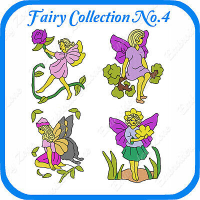16 Fairy Themed Embroidery Designs On Usb - No.4 - Pes Jef Hus Pcs Xxx Vp3