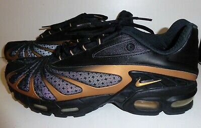 NIKE AIR MAX Tn Tuned Black & Gold Trainers Uk 11 EUR 56