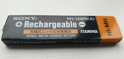 Sony NH-14WM NiMH 1400mAh Rechargeable Gumstick Battery - VGC Used