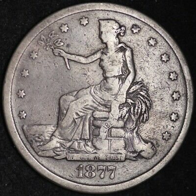 1877-S Trade Dollar CHOICE VF FREE SHIPPING! E370 KCNM