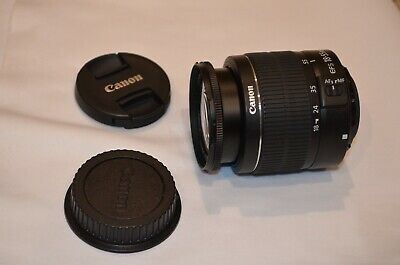 Canon EF-S 18-55mm f/3.5-5.6 III Standard Zoom Lens W/ front and rear caps MINT