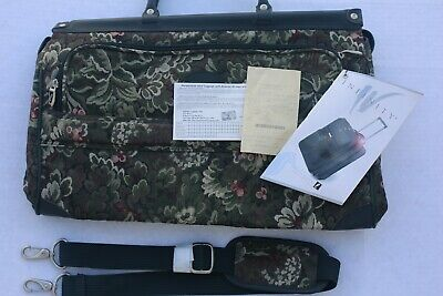 "ATLANTIC VTG. Luggage 14""  Tapestry Carry On Weekend Green Floral"