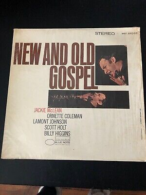 New And Old Gospel Jackie McLean LP Blue Note BST 84262 STEREO Ornette Coleman