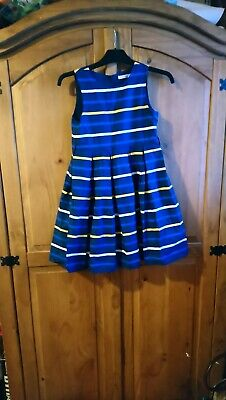 Girls Next Navy Striped party summer Dress Age 7 /8
