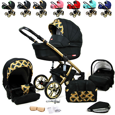 Baby Pushchair  Pram Comfort Buggy Newborn 3 in 1 Car Seat Travel System