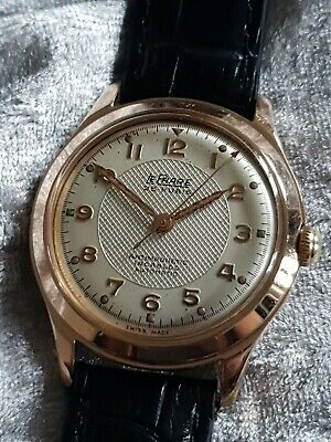 Gents Vintage Rose Gold Plated LE PHARE 25 Rubis Mechanical Automatic Wristwatch