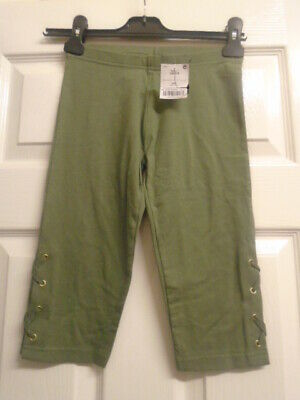 BNWT NEW Girl Next Khaki Short Leggings Age 10 Years VGC