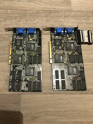 Creative Labs CT6670 3DFX Voodoo 2 8MB PCI Graphics Card (Untested) Pair.
