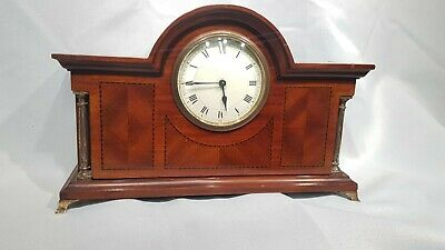Antique French 8 Day Timepiece inlaid Mantel Clock Platform Escapement
