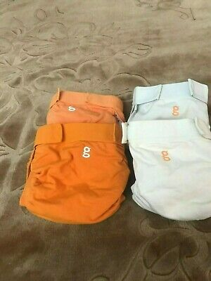 Lot of gDiapers 2 Size Medium & 2 size L Comes With Snap In Liners& 10 Inserts