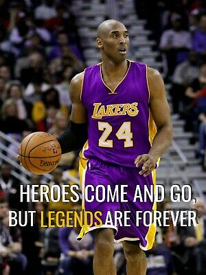 KOBE BRYANT Heroes Come and Go, But Legends Are Forever Fridge Magnet - new!