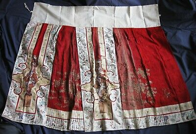 Antique / Early 20th Century Chinese Silk Hand Embroidered Wedding / Ceremonial