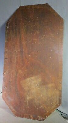 Antique American Federal Period Cross Banded Mahogany Table Top Octagon 1825